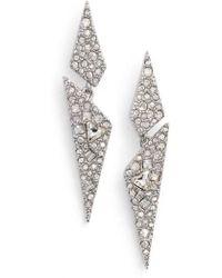 Alexis Bittar - Crystal Encrusted Dangling Drop Earrings - Lyst