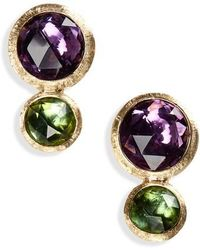 Marco Bicego - Jaipur Amethyst & Tourmaline Stud Earrings - Lyst