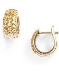 Dana Rebecca - Wide Gem Huggie Earrings - Lyst