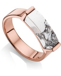 Monica Vinader - Engravable Linear Stone Ring - Lyst