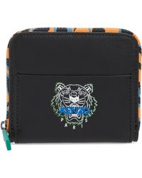 15d91c5f KENZO - Tiger Square Leather Wallet - - Lyst