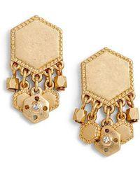 Treasure & Bond - Charm Plate Drop Earrings - Lyst