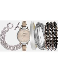 Fossil - 'georgia' Leather Strap Watch - Lyst