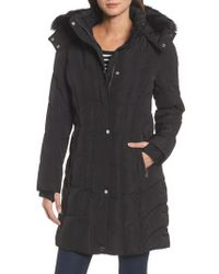 CALVIN KLEIN 205W39NYC - Hooded Down Parka With Faux Fur Trim - Lyst
