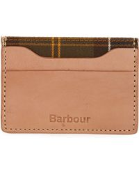 Barbour - Leather Card Case - Lyst