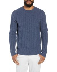 Calibrate - Rib Crewneck Sweater - Lyst