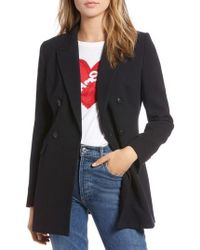 Nordstrom - 1901 Double Breasted Crepe Blazer - Lyst