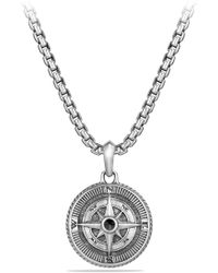 David Yurman - 'maritime' Compass Amulet With Black Diamond - Lyst