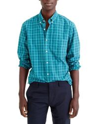 J.Crew | J.crew Slim Fit Stretch Secret Wash Plaid Sport Shirt | Lyst