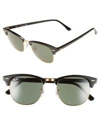 Ray-Ban | 'classic Clubmaster' 51mm Sunglasses | Lyst