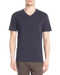 Vince - Pima Cotton V-neck T-shirt - Lyst