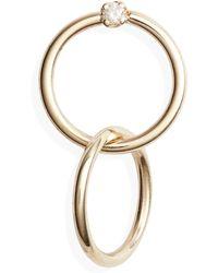 Loren Stewart - Obi Diamond Frontal Hoop Earrings - Lyst