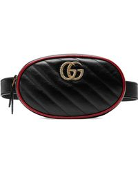 91c4159b7ef7 Gucci Gg Marmont 2.0 Matelasse Triple Pouch Leather Belt Bag in ...