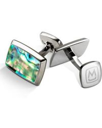 M-clip | Abalone Cuff Links - Stainless Steel/ Green | Lyst