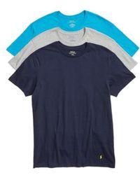 Polo Ralph Lauren - Classic Fit 3-pack Cotton T-shirt, Black - Lyst