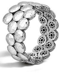 John Hardy - 'dot' Disc Double Coil Bracelet - Lyst