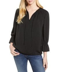 Lucky Brand - Parachute Peasant Top - Lyst