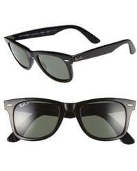 Ray-Ban - 'classic Wayfarer' 50mm Polarized Sunglasses - Lyst