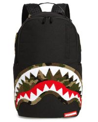 Sprayground - Camo Chenile Shark Backpack - Lyst