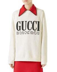 Gucci | Felted Cotton Jersey Sweatshirt | Lyst