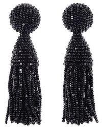Oscar de la Renta | 'classic Short' Tassel Drop Earrings | Lyst