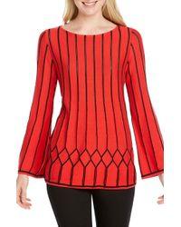 Foxcroft - Affina Pointelle Stitch Sweater - Lyst