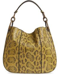 Bottega Veneta - Small Loop Genuine Anaconda Snakeskin Leather Hobo - - Lyst