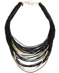 Natasha Couture - Beaded Multistrand Necklace - Lyst