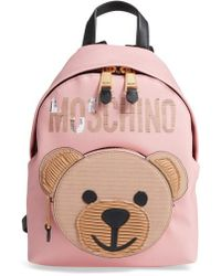 Moschino - Cardboard Bear Leather Backpack - Lyst