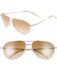 Oliver Peoples - 'benedict' 59mm Gradient Aviator Sunglasses - Lyst