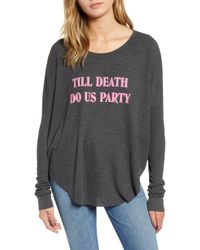 Wildfox - Till Death Do Us Party Thermal Tee - Lyst