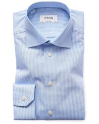 Eton of Sweden - Contemporary Fit Check Dress Shirt - Lyst