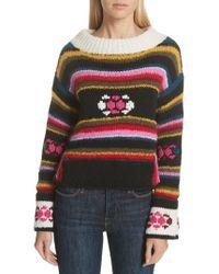 Smythe - Hand Knit Stripe Alpaca Sweater - Lyst