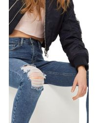 TOPSHOP - Jamie Ripped Jeans - Lyst