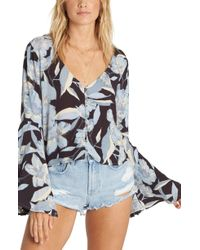 Billabong - Pretty Daylight Bell Sleeve Top - Lyst