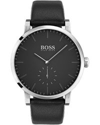 BOSS - Essence Leather Strap Watch - Lyst