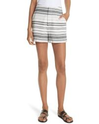 Joie - Brusha Stripe Cotton Twill Shorts - Lyst