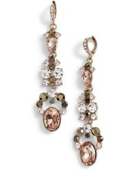 Givenchy - Drama Linear Crystal Earrings - Lyst