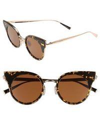 Max Mara - Ilde 46mm Cat Eye Sunglasses - Havana Gold - Lyst