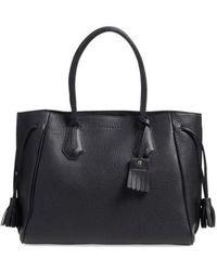 Longchamp - 'penelope' Tassel Drawstring Leather Tote - Lyst