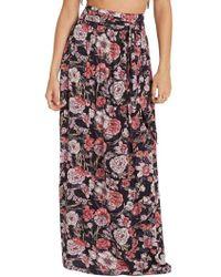 Billabong - High Tides Floral Print Maxi Skirt - Lyst