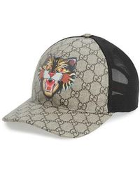 149d006e802 Gucci - Gg Supreme Angry Cat Trucker Hat - Lyst