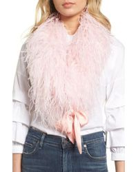 Cara - Ostrich Feather Scarf - Lyst