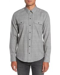 PAIGE - Everett Tattersall Sport Shirt - Lyst