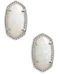 Kendra Scott - Ellie Oval Stud Earrings - Lyst
