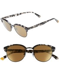 c7b89f67f3426 Balmain Metal Chain-rim Aviator Sunglasses in Metallic - Lyst