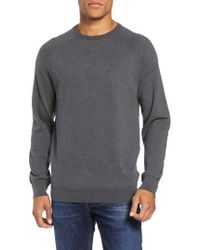 French Connection - Regular Fit Stretch Cotton Crewneck Sweater - Lyst