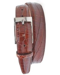 Martin Dingman | 'joseph' Genuine American Alligator Leather Belt | Lyst
