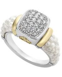 Lagos - 'caviar' Diamond Ring - Lyst