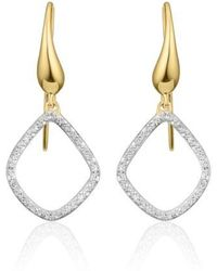 Monica Vinader - 'riva Kite' Diamond Drop Earrings - Lyst